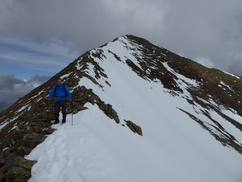 Looking back to Carn Mor Dearg
