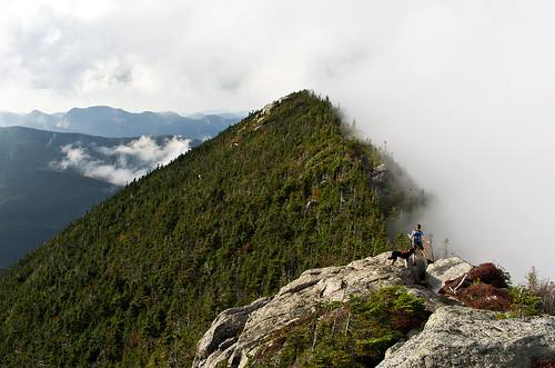 dog newyork fog clouds pentax hiking adirondacks climbing aim wilderness forestpreserve adk k9 k5 colvin highpeaks 2011 traildog dixmountain da21mmlimited beckhorn