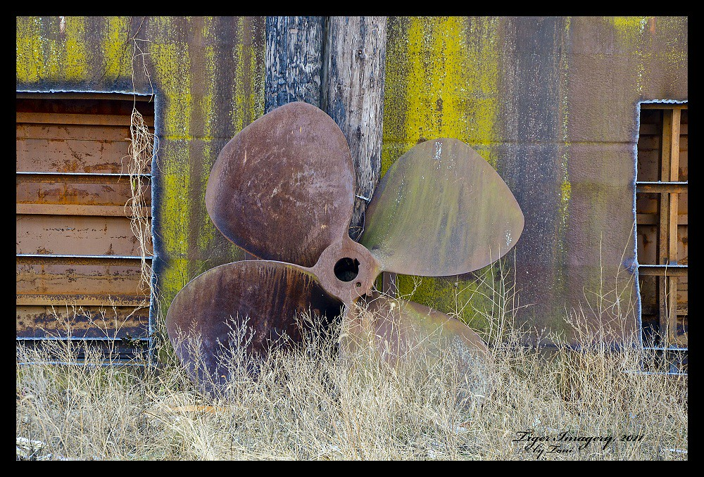 Barge Propeller | In 1993 there was a massive flood up and d