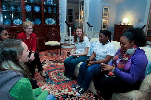 Conversation With the President: President Hosts Study Break at Bryn Mawr