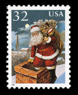 1995-09-30 Santa Claus Entering Chimney postage stamp | by U.S. Embassy The Hague
