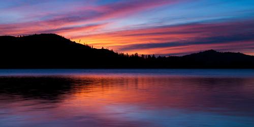california ca lake reflection silhouette sunrise stars landscape redding whiskeytown