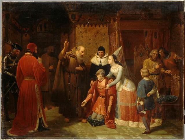 Nicolas Gosse, <i>Louis XI aux pieds de saint François de Paule</i>