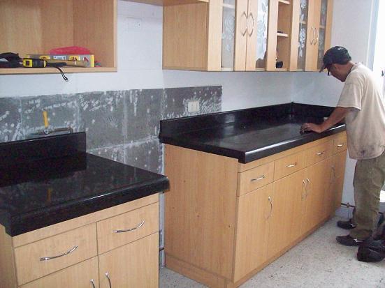 Cubiertas Cocina Granito Negro San Gabriel Melamine Flickr
