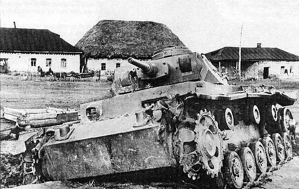 Destroyed by the pz. III