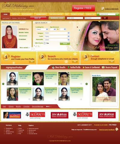 Thalimatrimony com Kerala Free matrimonial site, kerala ma
