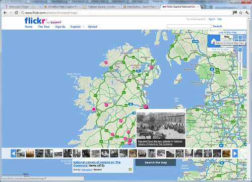 Mapping Vintage Photographs - screengrab of a Flickr map | by whatsthatpicture