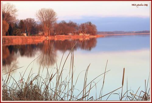 sunset lake reflection nature water colors wisconsin canon colorful lakeside waterscape waterscene canoneos60d mygearandme mygearandmepremium mygearandmebronze mygearandmesilver merleearbeen meaimages