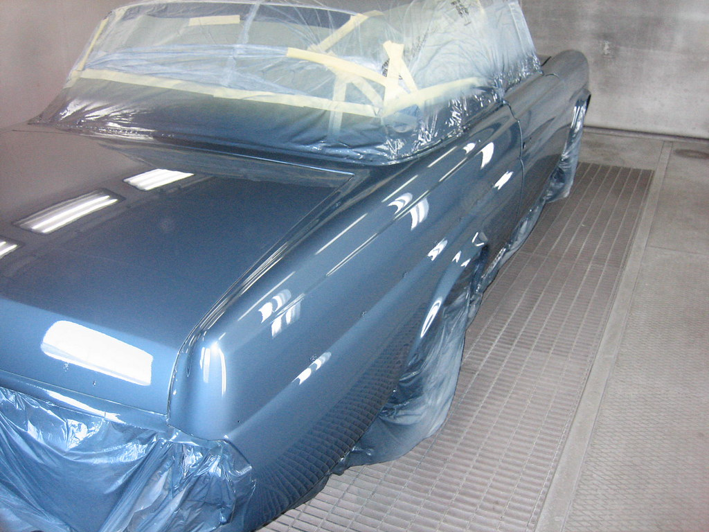 Classic Mercedes being painted