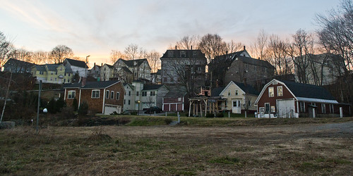 new winter light sunset england sky urban house building tree evening town industrial village dusk bare newhampshire nh historic commercial environment built hillsborough
