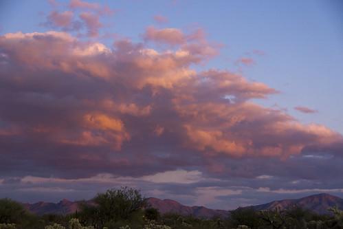 pink sunset arizona sky usa mountains color nature clouds sonorandesert santaritamountains