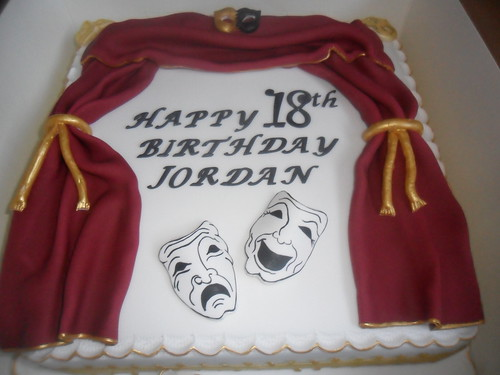 theatre tragedy masks birthday cake | by Sprinkled With Love cupcakes by lizzie sprinkledwi