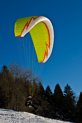 Paraglider Starting