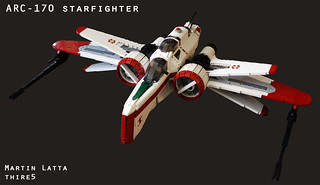 UCS Star Wars ARC-170 starfighter (with instructions) | by thire5