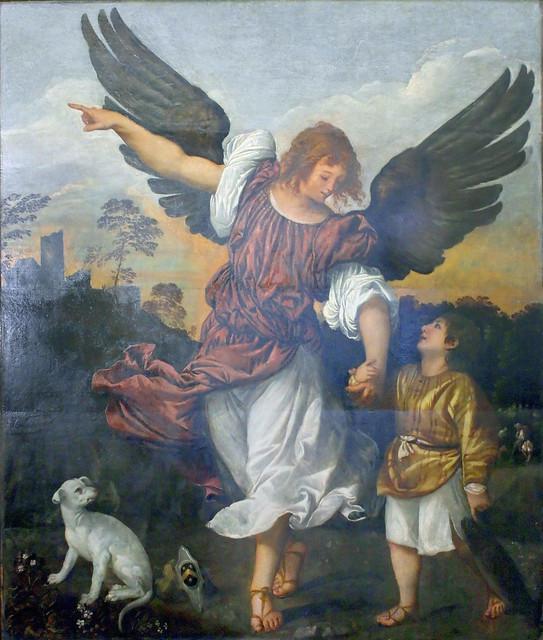 Titian - L'arcangelo Raffaele e Tobiolo