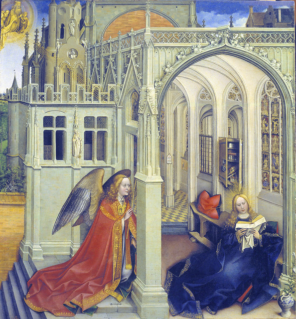 Robert Campin - Annunciation (1418-19)