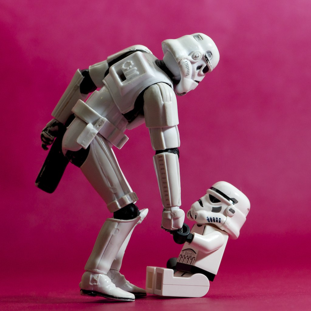 Image result for helping stormtroopers