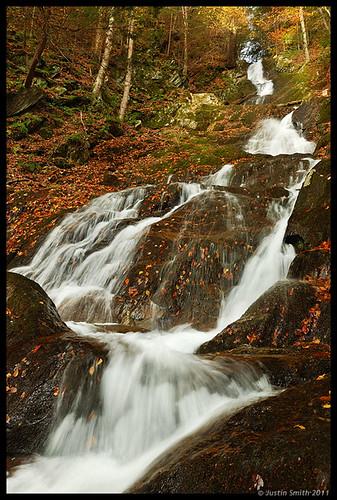 autumn fall waterfall massachusetts nikond50 foliage justinsmith nikon1735mmf28 twincascade justinsmithphotocom