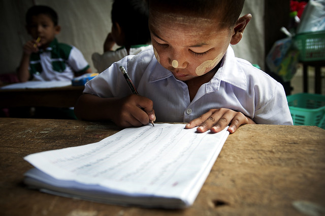 Kindergarten Child in Myanmar