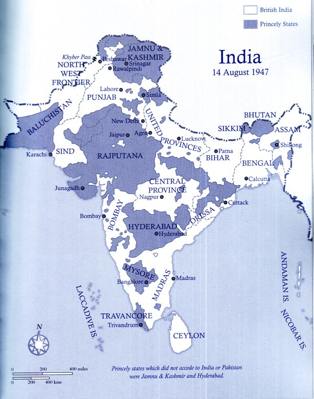 The map of India on 14 August 1947 - before the Radcliffe ... India Map on india and pakistan history, india pakistan migration, india 1800s, india before pakistan, india and pakistan independence, india pakistan 1947, india after independence, india and pakistan conflict 2013, india colonial period, india split, india before 1947, india during british rule, india after partition, india in 1947,