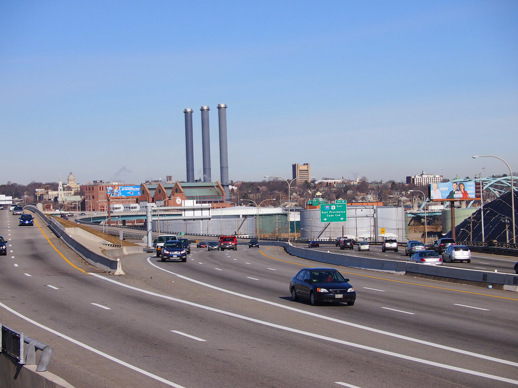 Light traffic on I-95 Providence | E-PM1 P1161036-1 - Panaso