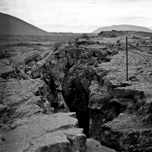 "Image titled ""Crack, Near Hverfell, Iceland."""