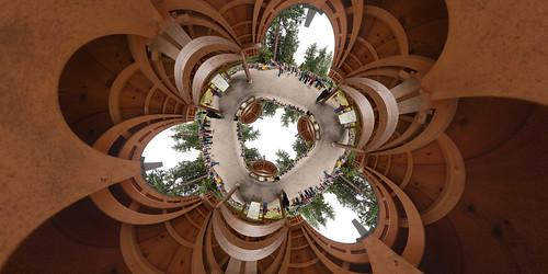 panorama washington crowd bainbridgeisland stitched 360x180 stereographic ptgui pritchardpark flexify2 canon15mm nodalninja3 stereotriple canon5dmk2 garretveley bijac promotecontrol nidotonaiyoni bainbridgeislandjapaneseamericanexclusionmemorial