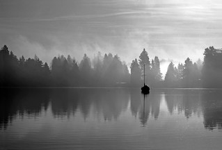 Lonely on the water - monochrome | by Derek Lyons