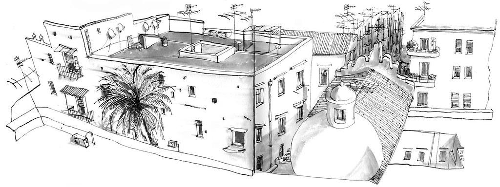 Salita Pontecorvo Dalla Terrazza Del Museo Nitsch Napoli