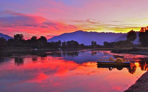 lake como lakecomo sunset sorico lombardy italy mickyflick
