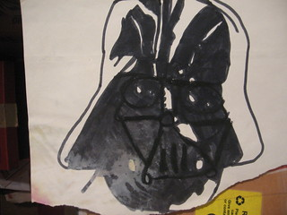 Star Wars Darth Vader - T. Burke illustration 1980ish copied from Kenner action figure card photo