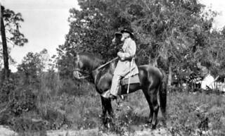 Portrait of Captain Edward Camden on a horse: Volusia County, Florida