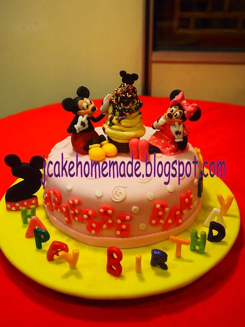 Mickey and Minnie Mouse birthday cake