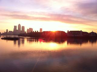 London Sunrise from King Edward Memorial Park