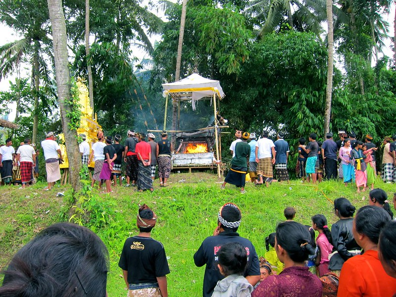 Cremation Ceremony, Pejeng, Bali, Indonesia