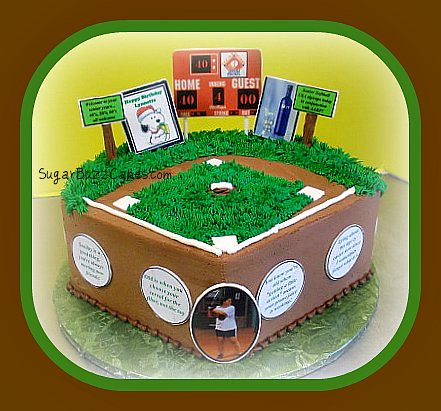 Outstanding Baseball Themed 40Th Birthday Cake The Birthday Girl Is Tu Flickr Funny Birthday Cards Online Necthendildamsfinfo