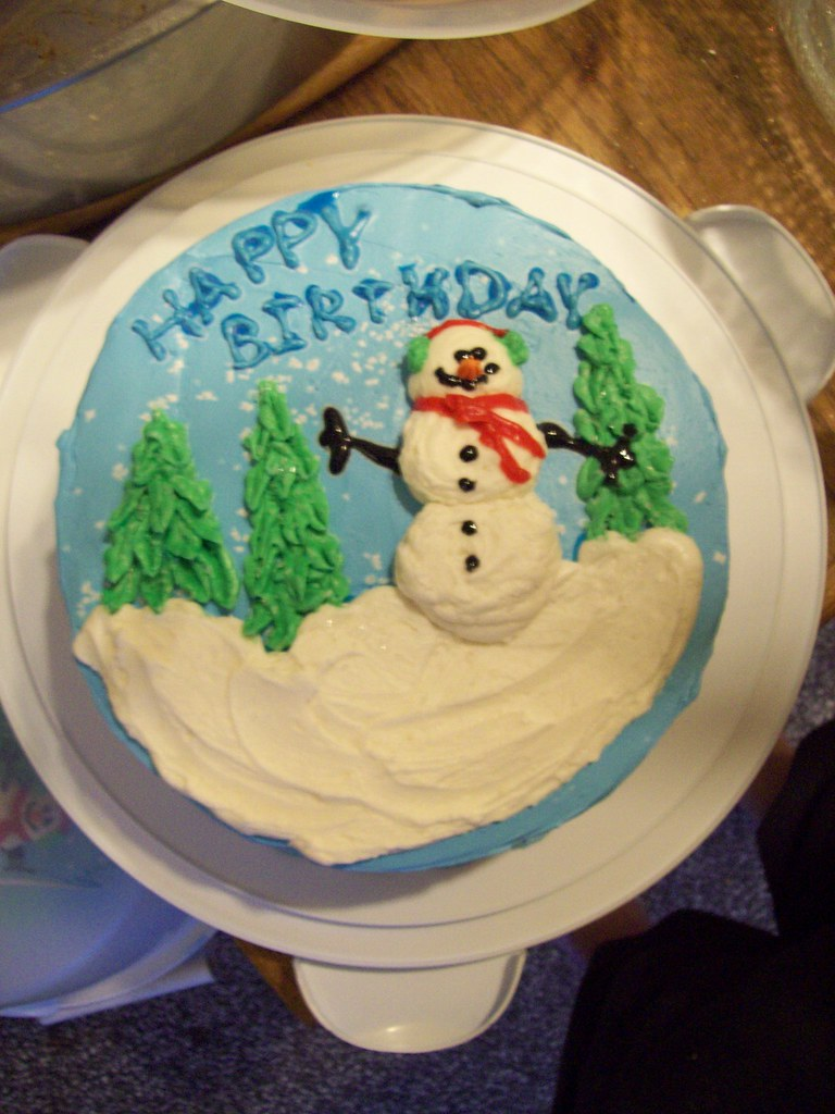 Amazing December Birthday Cake 003 Blindtraveller Flickr Funny Birthday Cards Online Hendilapandamsfinfo