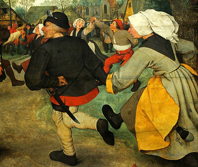 Bruegel the Elder, Peasant Dance, detail 4