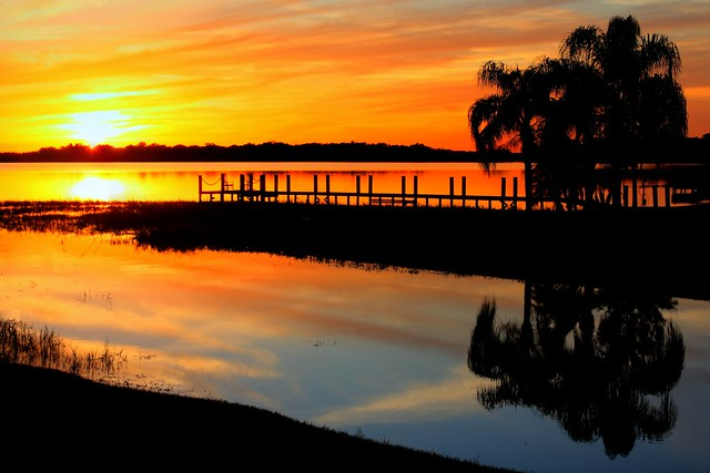 Alligator Lake Sunset