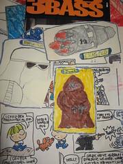 Star Wars - Snowtrooper, Escape Pod, Jawa - T.Burke illustration 1978-81?