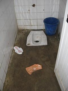 girls toilet at school in Ishull Shengjin