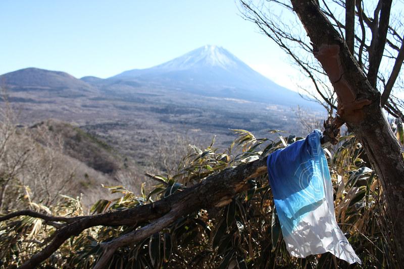 富士山と手ぬぐい