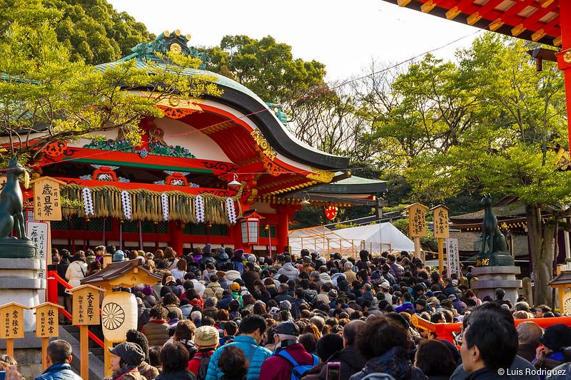 Hatsumode en Fushimi Inari, Kioto