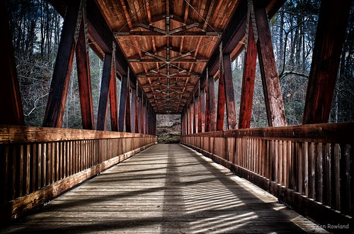 Vickery Creek Covered Bridge, Roswell, GA, USA | by Ken Rowland