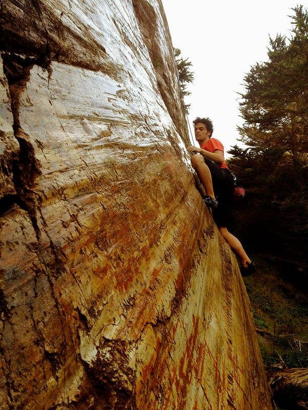 FYI, Beaver St Wall is a great, but tricky climb. Check out that slippery glass-like finish.