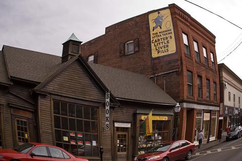 downtown vermont distorted bricks newengland books brattleboro vt cartersliverpills