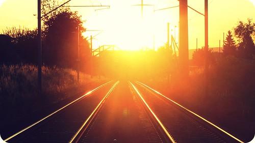 light sunset sun love train switzerland trails saturday cliché hcs