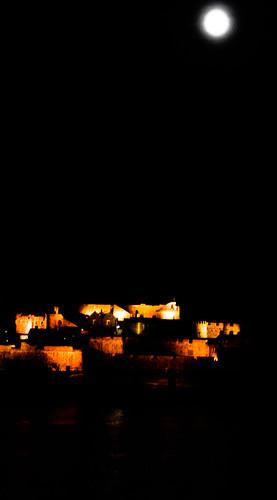 lighting sea moon reflection slr castle water night nikon harbour fort dslr fortification guernsey englishchannel castlecornet stpeterport d80 nikond80