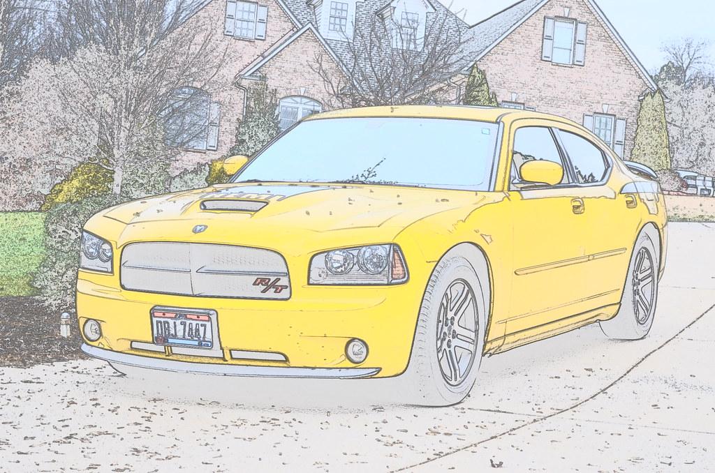 2006 Dodge Charger Daytona Top Banana | color sketch