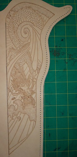 Dragon_cane-holster-tooling | by Three Mutts Customs